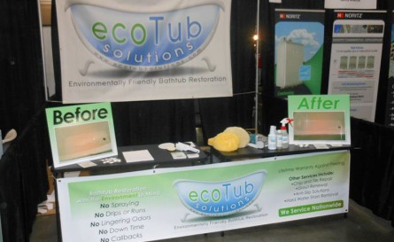 ecoTub Solutions booth - Hotel, Motel and Restaurant Supply Show - Myrtle Beach, SC